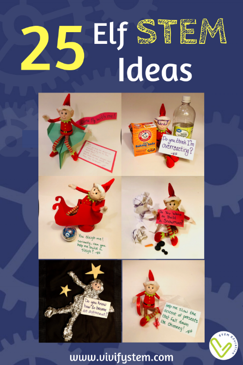 STEM activity ideas to do with your elf on the shelf.