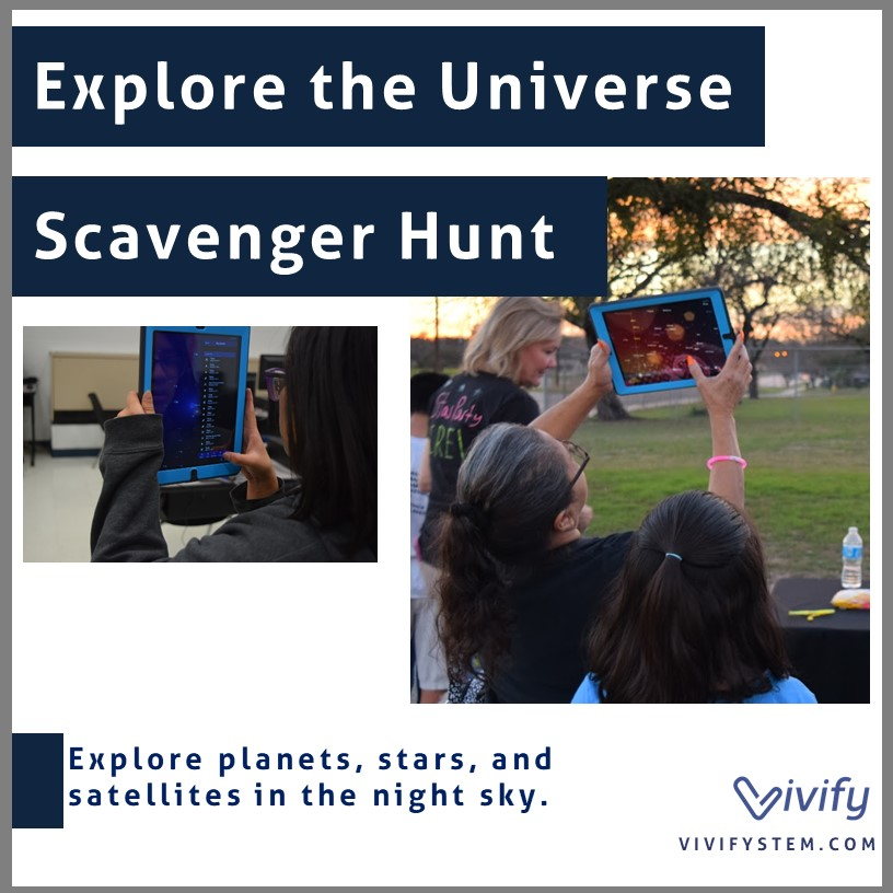 Click for our free scavenger hunt to explore the night sky using the Sky View app.