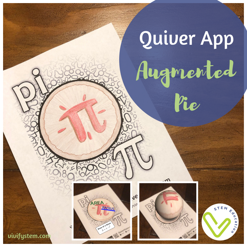 Use the Quiver App for some Pi Day augmented reality!