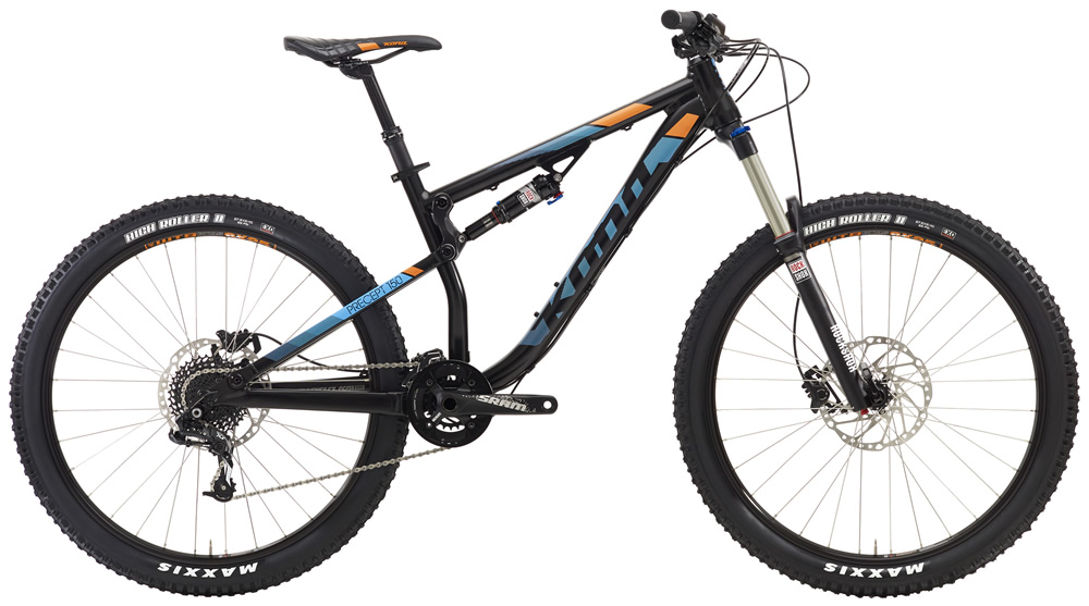 """Precept 150, $2699(27.5"""" wheels) A brand new model for 2016, the Precept 150 has been added to the platform as a capable alternative to the Process 153. Geometry, suspension control and components have been incorporated to hold up to heavy trail abuse without hurting your pocketbook."""