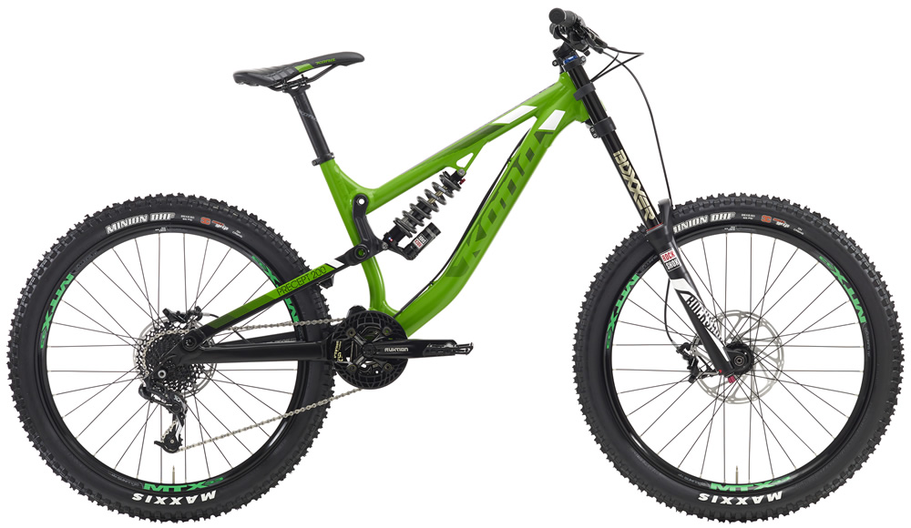 """Precept 200, $3199 (26"""" wheels) The ultimate bike for riders diving into downhill. While most of the choices in gravity are extremely expensive, high-maintenance offerings, you can enter the DH game with a performance-loaded, value-stacked downhill bike that can hold its own on any track. Using design cues from our much-loved Operator, the Precept 200 will take you confidently into new universes of gravity-fueled bliss."""