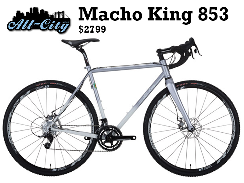 The Macho King is a special one. Throughout your life, some will come and some will go, and some will touch your heart and make you want to hold onto them forever. The Macho King is one of those. It is simply the very best cross bike we have ever made, and if you are lucky enough to lay hands on one, you're going to love it.