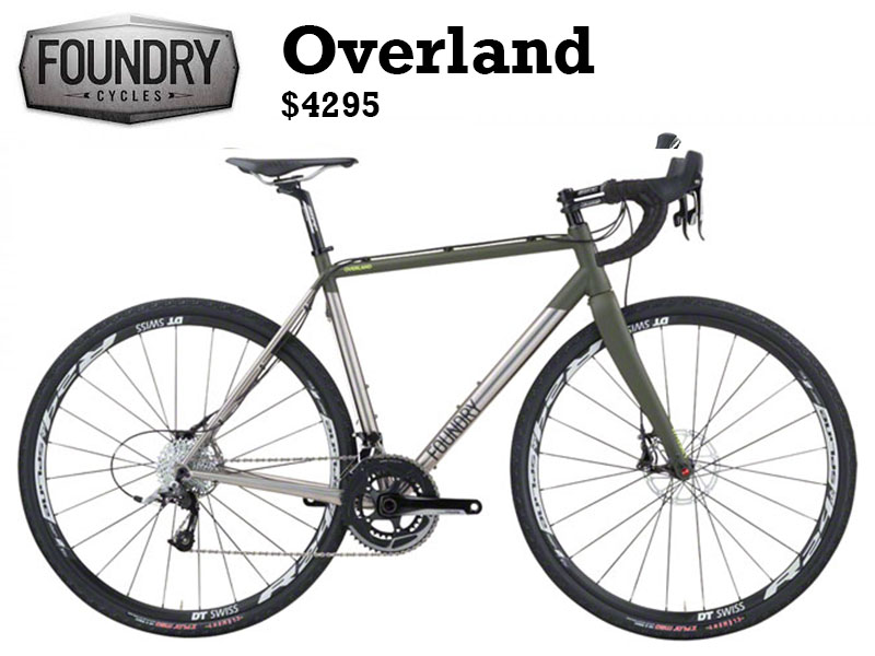 The Overland is the most versatile bike in our lineup. While we designed it to excel on long gravel rides, it's no slouch on a cyclocross course and will hold its own on a fast training ride. Its titanium frame uses our proprietary 3Al/2.5V titanium tubing and is paired with a Whisky No.9 fork for a healthy balance of strength, weight, and stiffness.