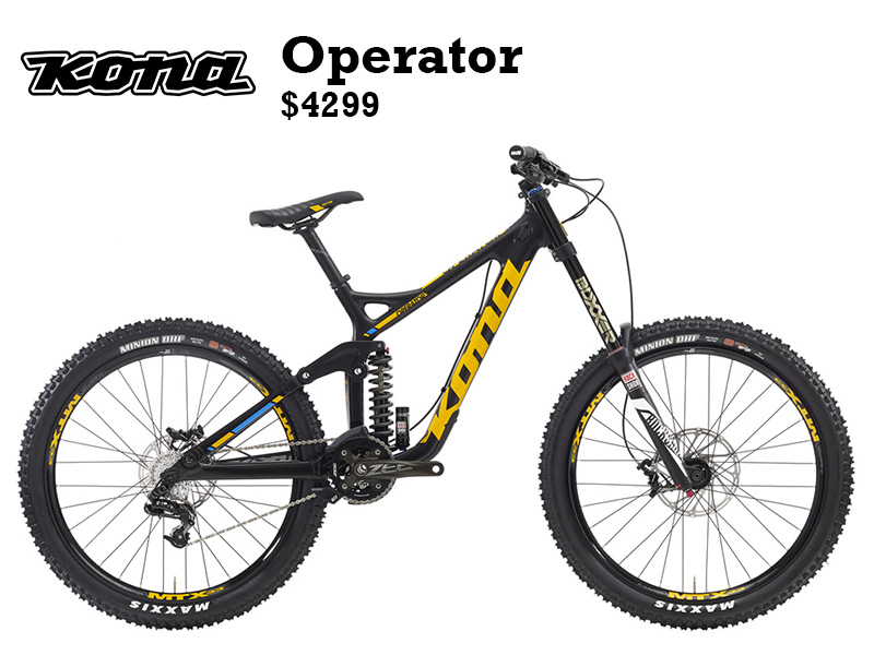 We have watched the Operator spread like wildfire to all corners of this gravity-graced earth. From the Alps to the Rockies, and every collection of mountains in between, the perfectly priced, performance-laden Operator is by far one of the best bang-for-the-bike, fully equipped downhill bikes on the market today.