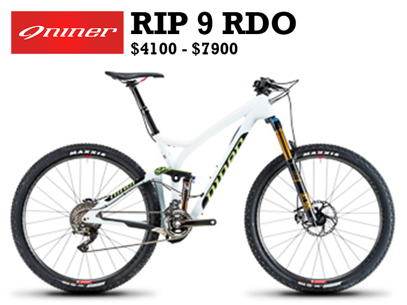 """NINER'S FLAGSHIP TRAILBIKE """"Quiver Killer"""" meets RDO Carbon Compaction in our top-end trail bike. Winner of Outside Magazine's Gear of the Year award as well as the Eurobike Award for design, the RIP 9 RDO sets the standard for bikes that need to get up to really get down."""