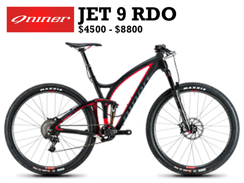 The newest incarnation of the JET 9 RDO is Niner's flagship cross country full suspension frame, choice of the CLIF MTB and Cyclocross Team and Team Backcountry.com. At 100mm of travel, this is the full suspension bike most likely to be found in MTB stage races, in epic endurance races and on the podium.