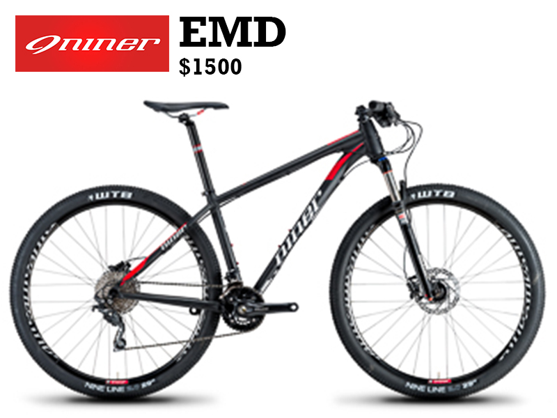 The new EMD 9 opens the door to Niner for all riders and will fit nicely in the outdoor enthusiast's garage of envy. Nestled amongst the quiver of skis, whitewater kayak or climbing racks and harness, the EMD 9 will be comfortably at home awaiting all riding adventures.