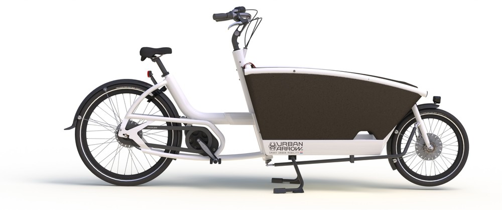 Urban Arrow Family Electric, $5950.  The Family is a cargo bike with electric assist that quickly and safely carries your children across town. The bicycle has a lightweight aluminum frame and can be easily and smoothly maneuvered through traffic jams. From now on you can leave your car at home. What more does a family want!