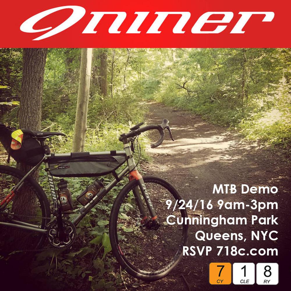 Niner Demo Ride, 9/24/16