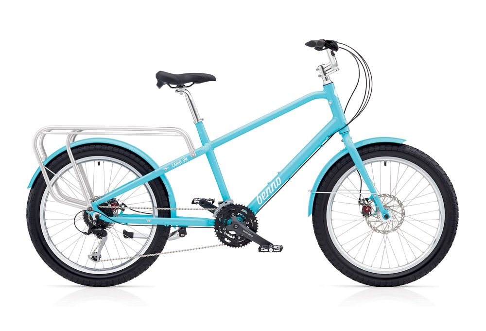 "Carry-On 27D $1199:  Shimano Acera/Alivio 27-Speed, Avid Mechanical Disk Brakes, 6061 Aluminum Alloy Frame, Oversized Steel Fork Aluminum Fenders, Double Wall Aluminum Rims with Eyelets, 24""x 2.6"" Dual Sport Tires, Heavy Duty Aluminum Rear Rack"