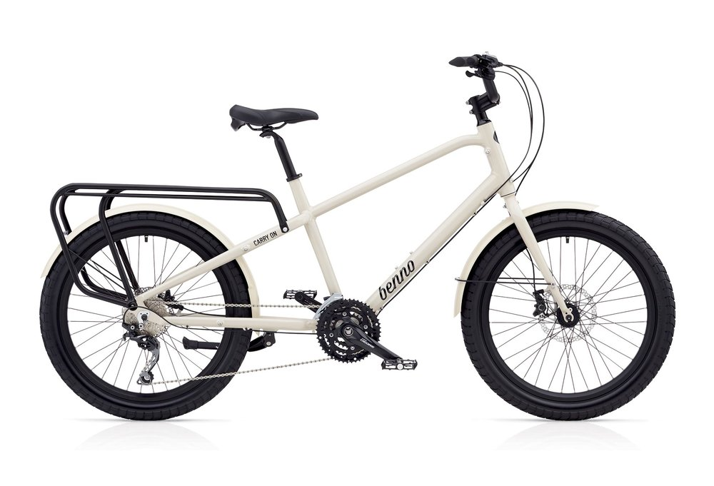 "Carry-On 30D $1599: Shimano Deore LX 30-Speed, Shimano Deore Hydraulic Disk Brakes, 6061 Aluminum Alloy Frame, Oversized CRMO Fork Aluminum Fenders, Double Wall Aluminum Rims with Eyelets, 24""x 2.6"" Dual Sport Tires (60TPI), Utility Aluminum Rear Rack"