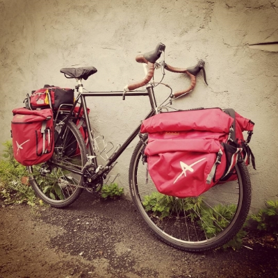Andrew's bike with racks, panniers and trunk bag