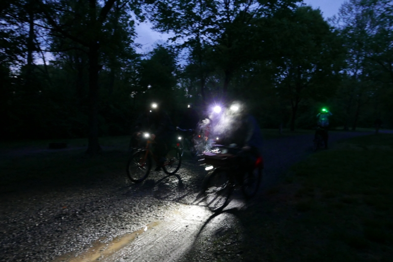 The group decided on a night ride to investigate some Creepy Cabins, which turned out to not be creepy