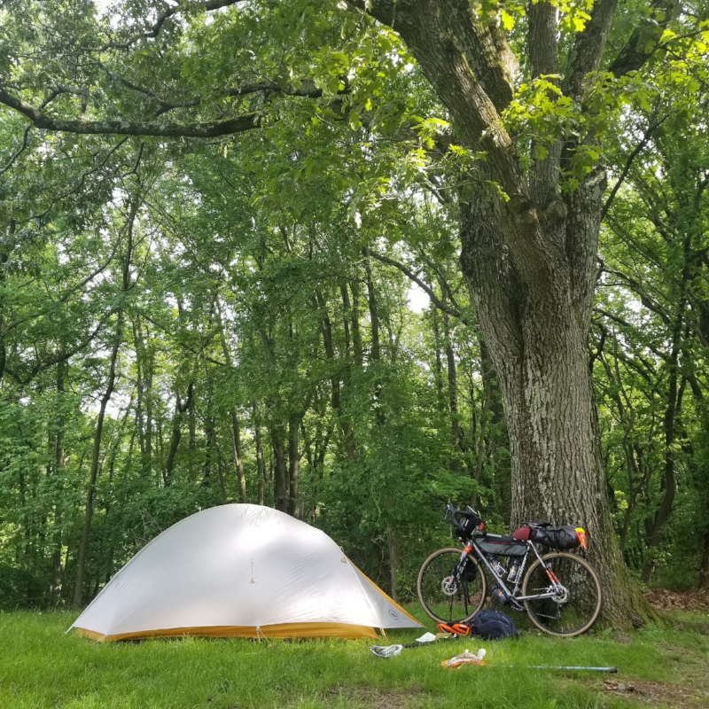 Camp set-up.  Big Agnes Fly Creek 1-person tent