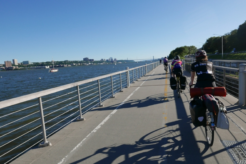 Hudson River Greenway, perfect summer weather