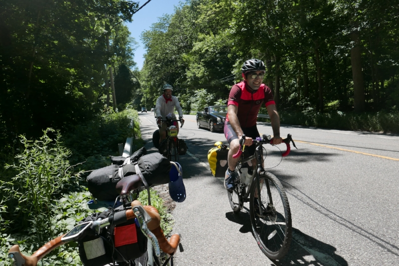 Climbing the last set of hills in Cross River and Katonah. Overall, the ride had 2.500 feet of climbing/elevation gain