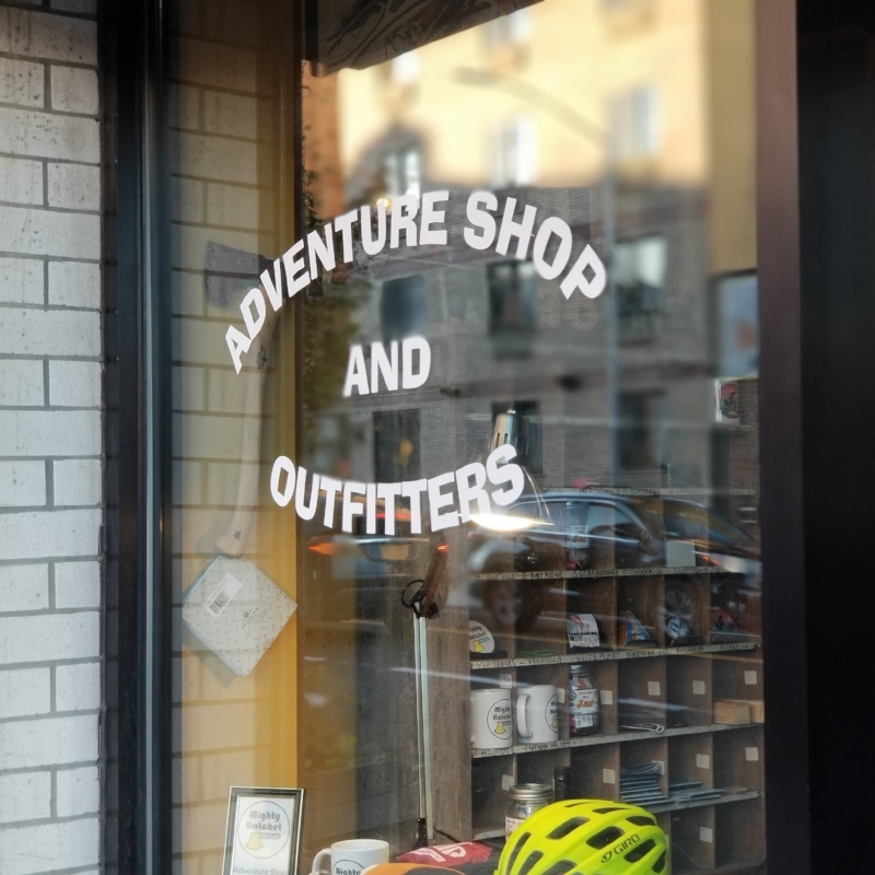 "It used to say ""BIKES"" in the window"
