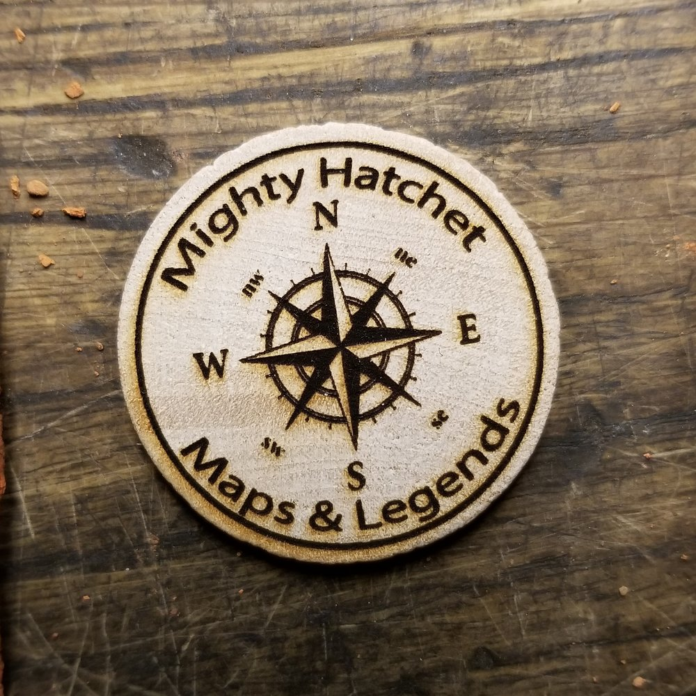 Maps and Legends:  Attend this  Mighty Hatchet  class and get this TorbCoin worth  3 TC