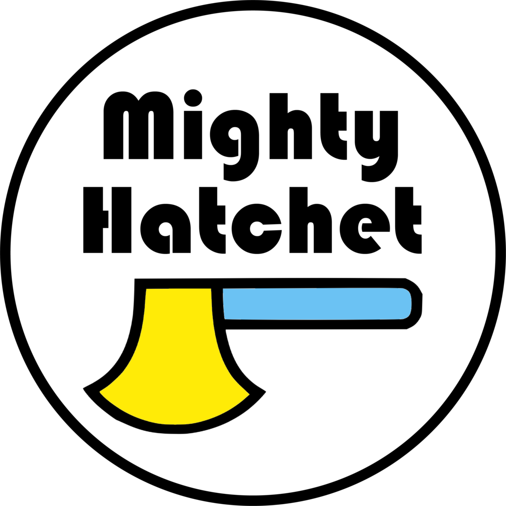 mighty hatchet Logo white circle.png