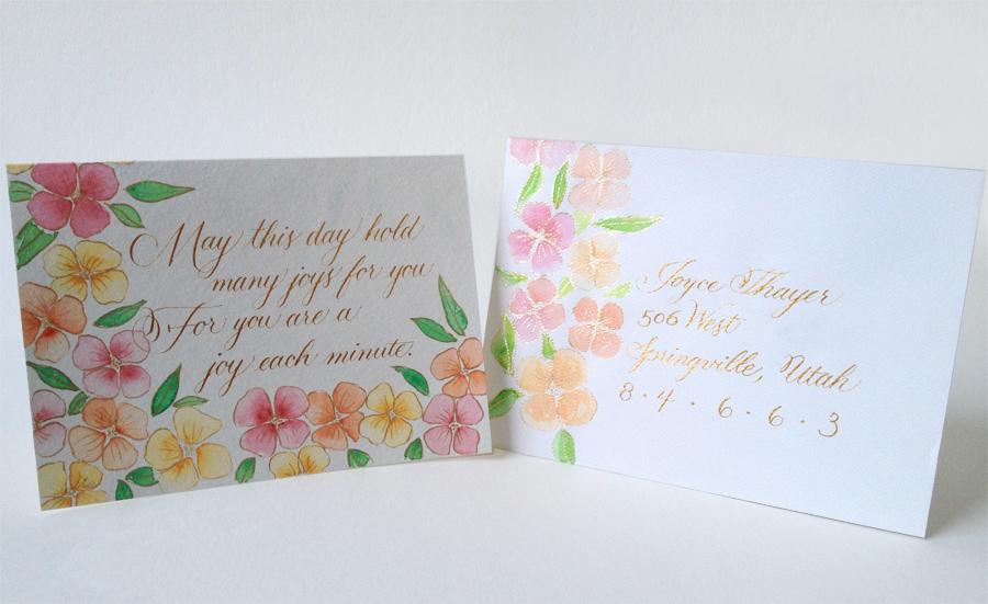 Miranda Fuller Art Design Birthday Card For Bens Grandmother