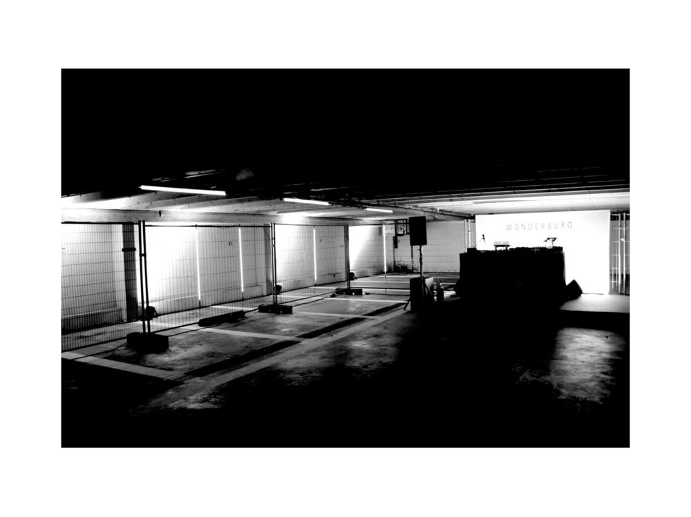 Set design underground party concept