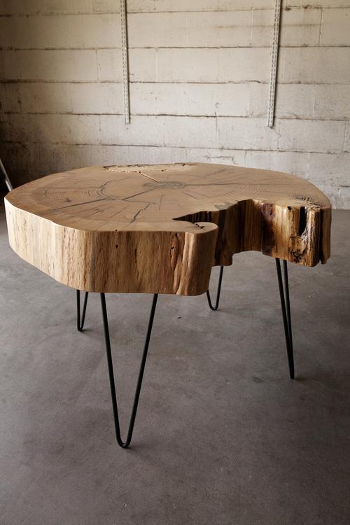 End Grain Red Oak Coffee Table — Hardwood Reclamation