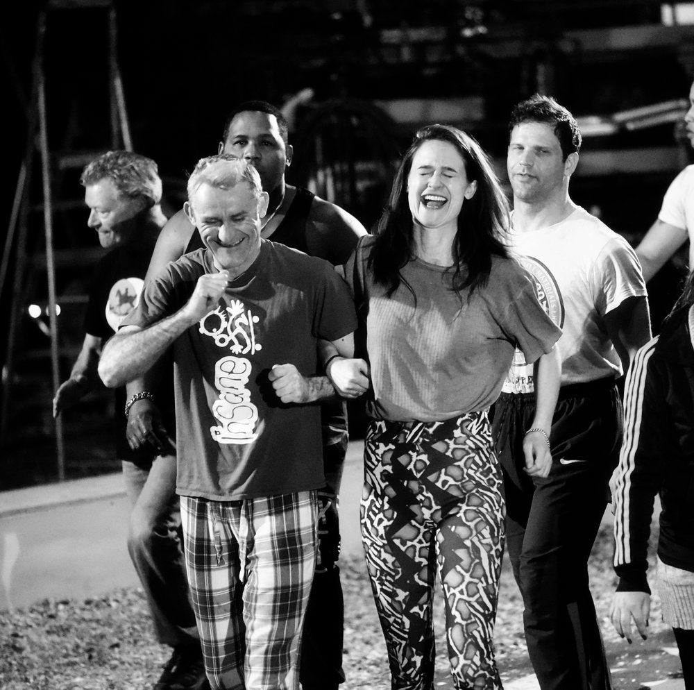 Tweedy and Nancy in rehearsals (c) Andrew Rees 2018