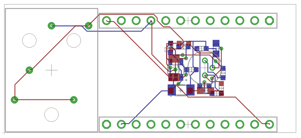 Fig. 5: The Photon Guitar Compressor PCB, my first version of the Photon Guitar Pedal project.