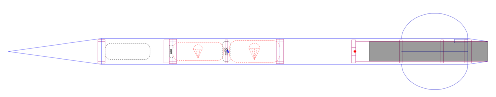 Final rocket design: Configuration 555    SOURCE :  METAMORPH, INC.