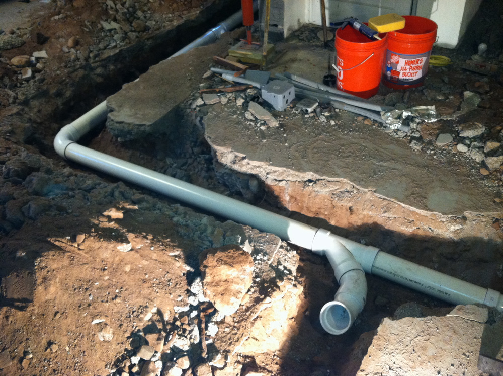 New Sewage Line