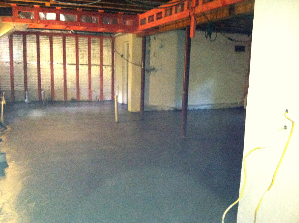 Poured 4 inch Concrete Floor