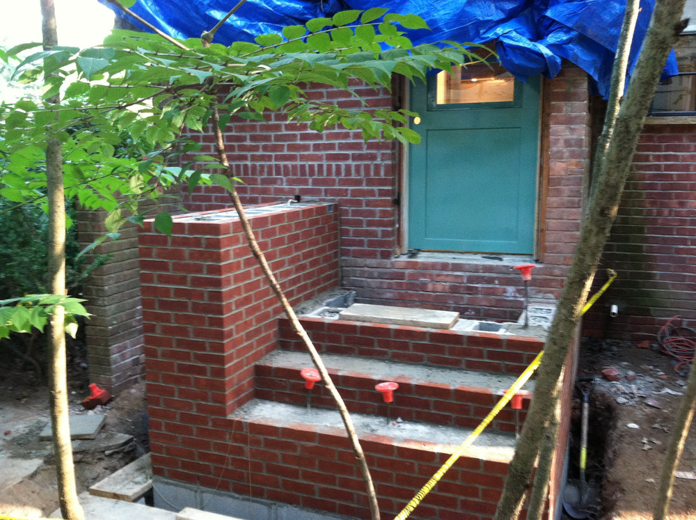 New Brick Steps Before treads
