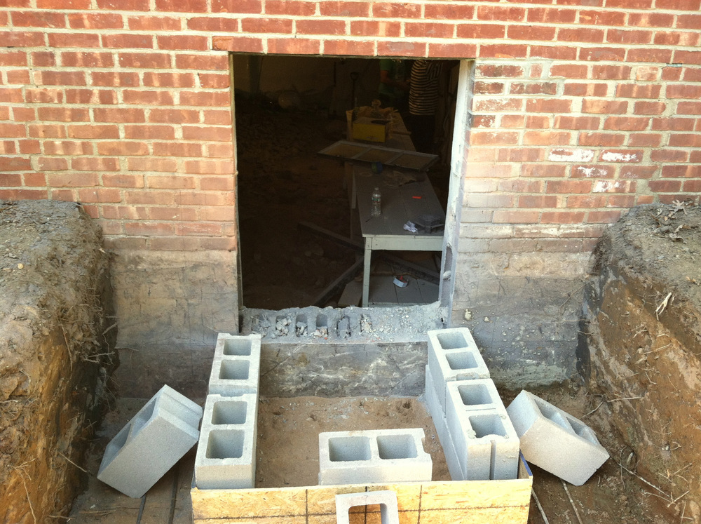 Cut Hole for New Window & Dig out For Egress steps