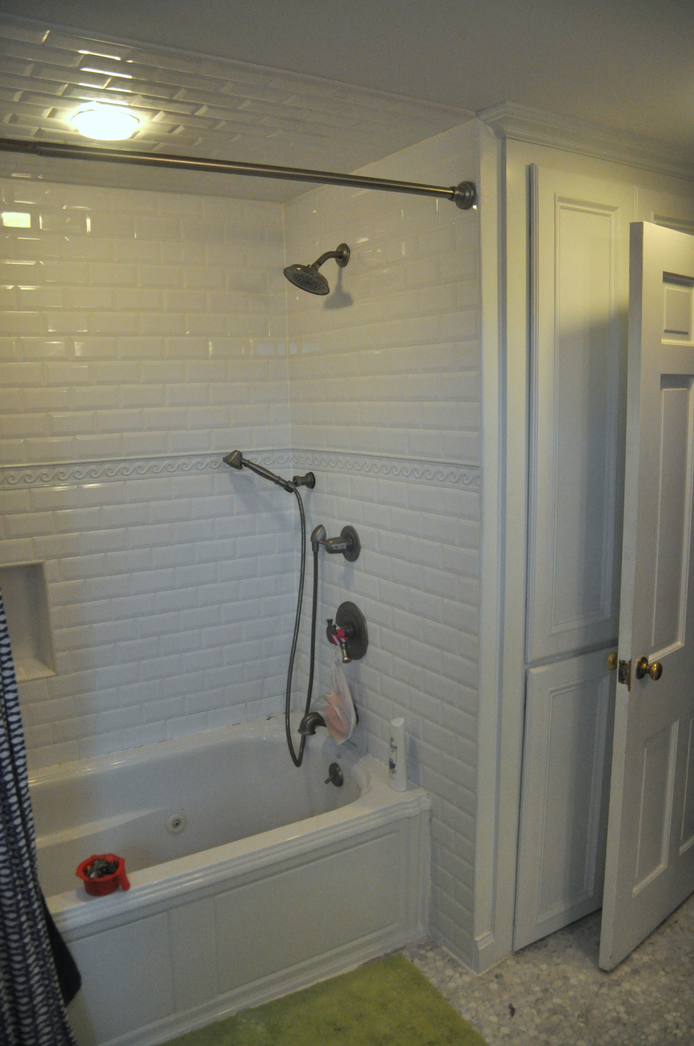 New tile and fixtures