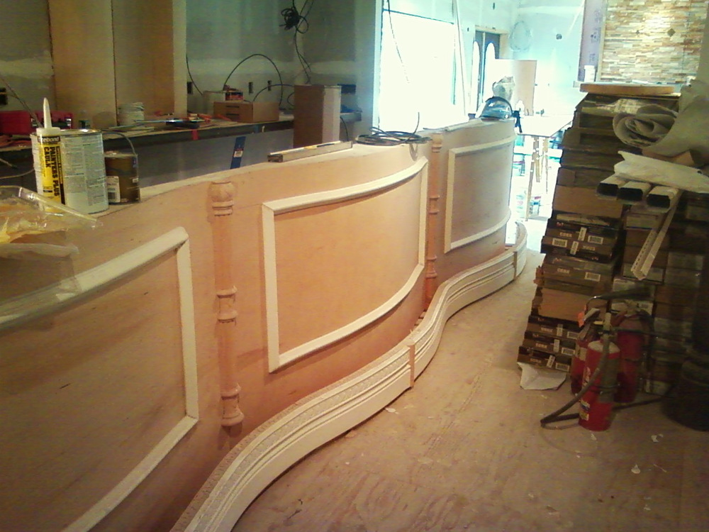 Trim detail on bar