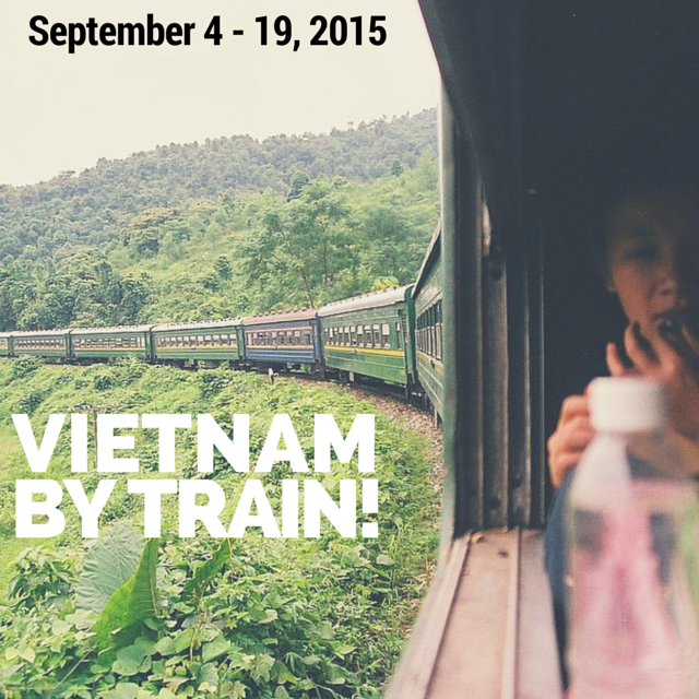 The Reunification Express travelling through Vietnam by Santi Llobet