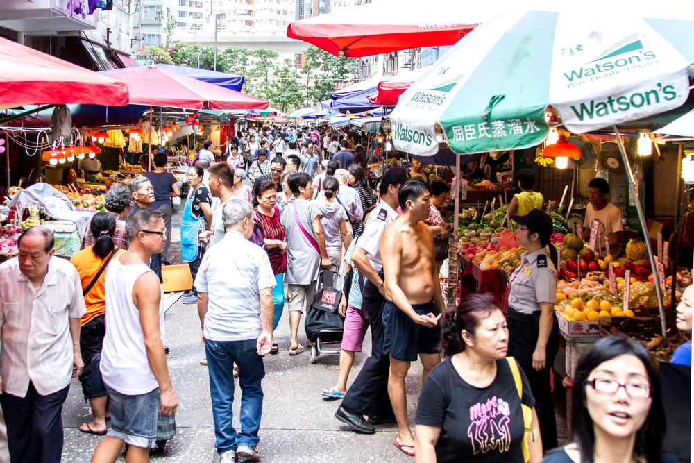 Open markets clearly don't have a no shirt/no service policy.