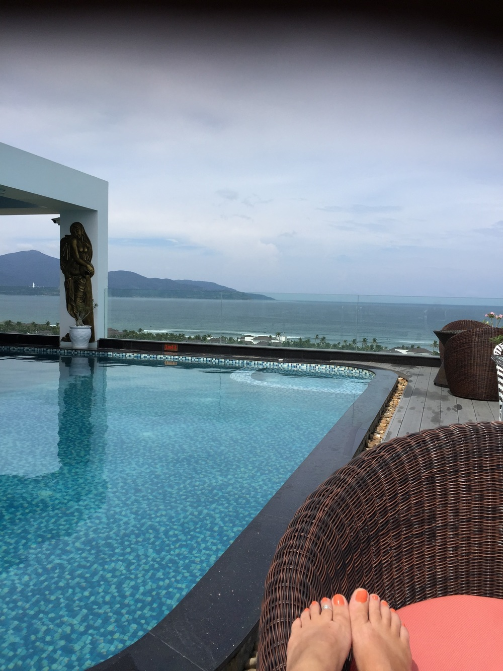 The rooftop pool at the Sea Phoenix in Da Nang.