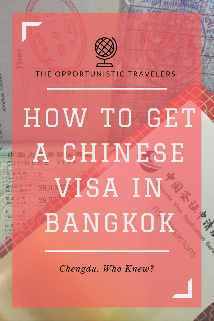 How To Get A Chinese Visa In Bangkok Tips Forms Updated April 6 2018