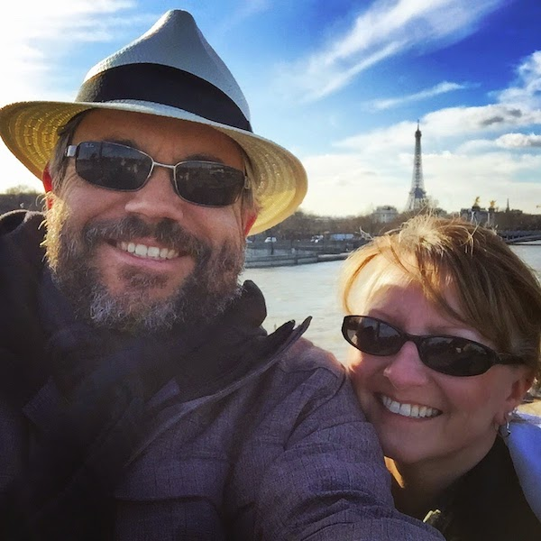 Evo & Sheila in Paris, making up for lost time. Image via Evo Terra.