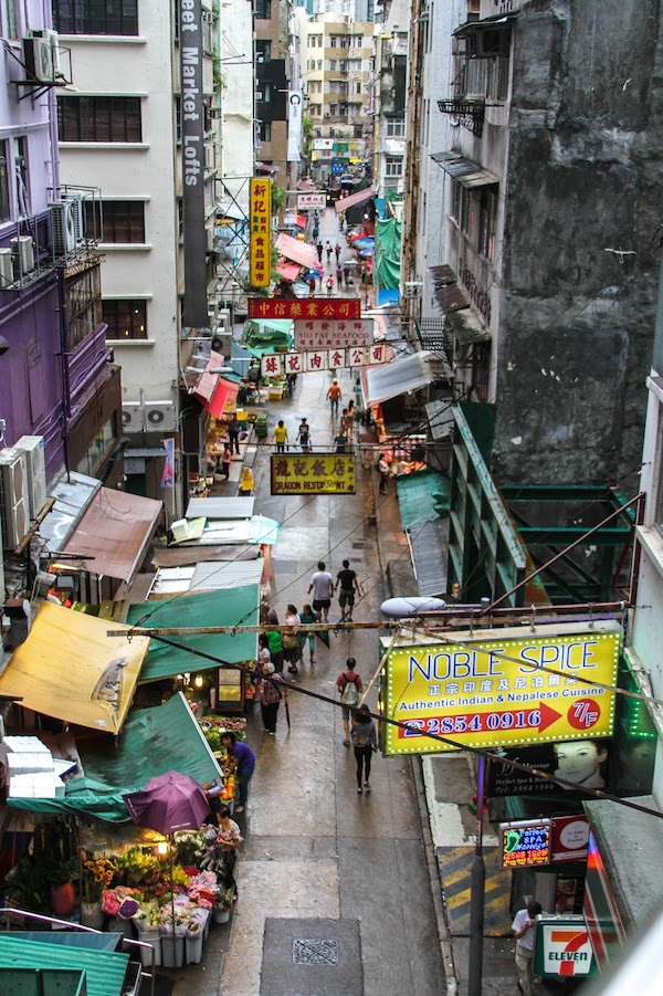 view from the mid-levels in Hong Kong