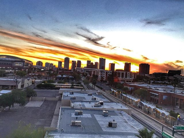 Sunset in Phoenix.