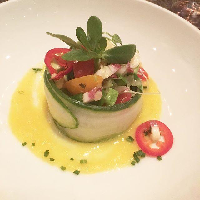 Amazing vegan ceviche @caracol_houston .  #vegabonding #veganhouston #veganceviche #veganfoodshare