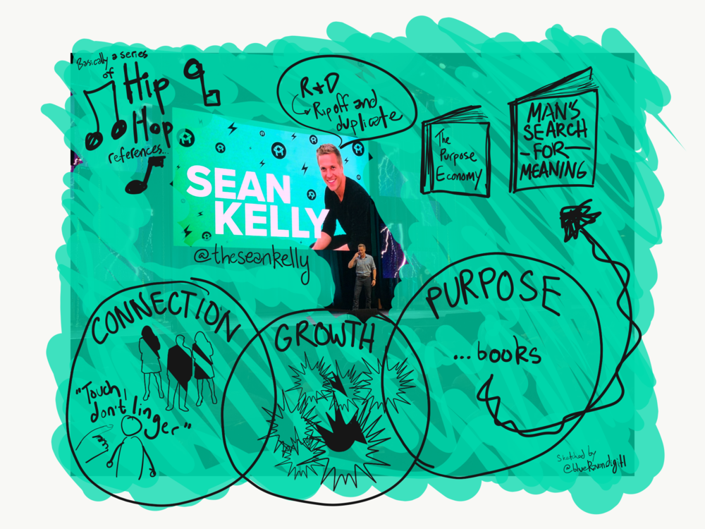 #13 — All presentations could use more hip-hop references 🎤 - Also, this was the only presentation that made me hungry... Sean Kelly at SnackNation
