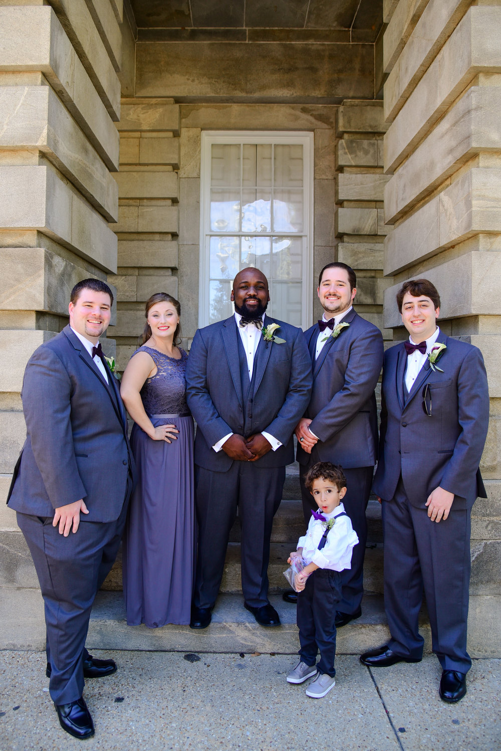 Groomsmen party in gray