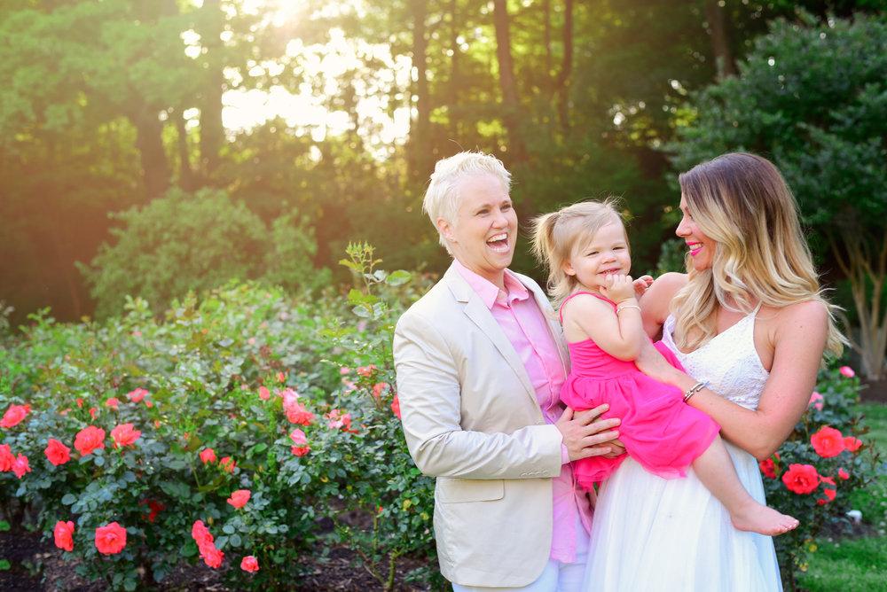 Family Portraits Raleigh Rose Garden