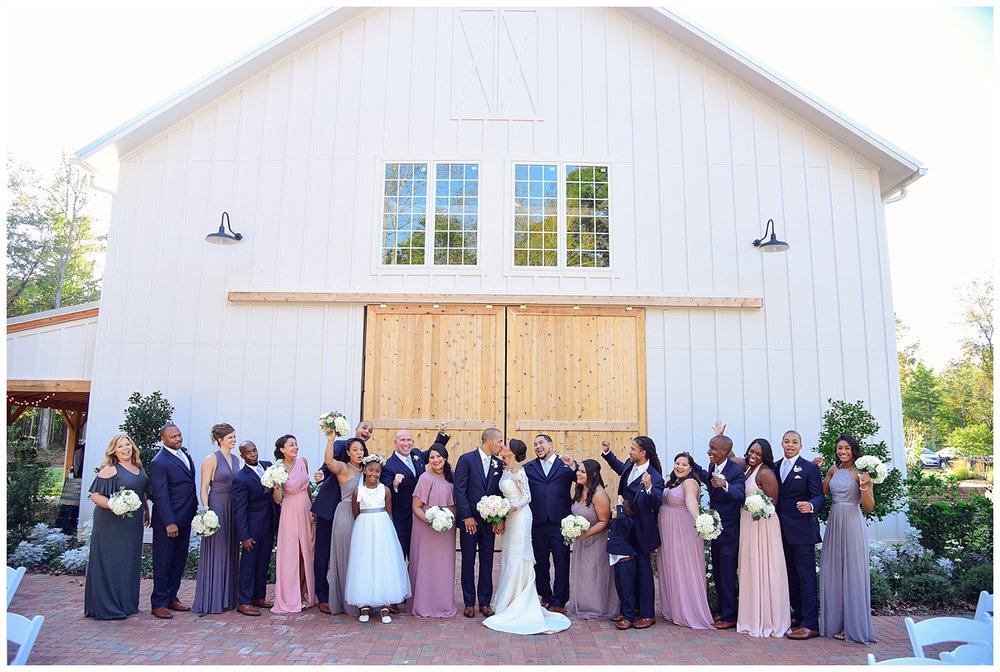Barn of Chapel Hill Wedding party