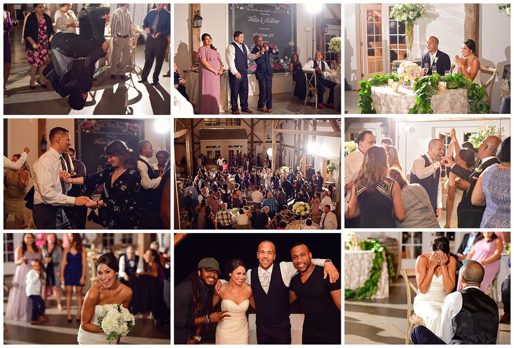 Barn of Chapel Hill Wedding reception