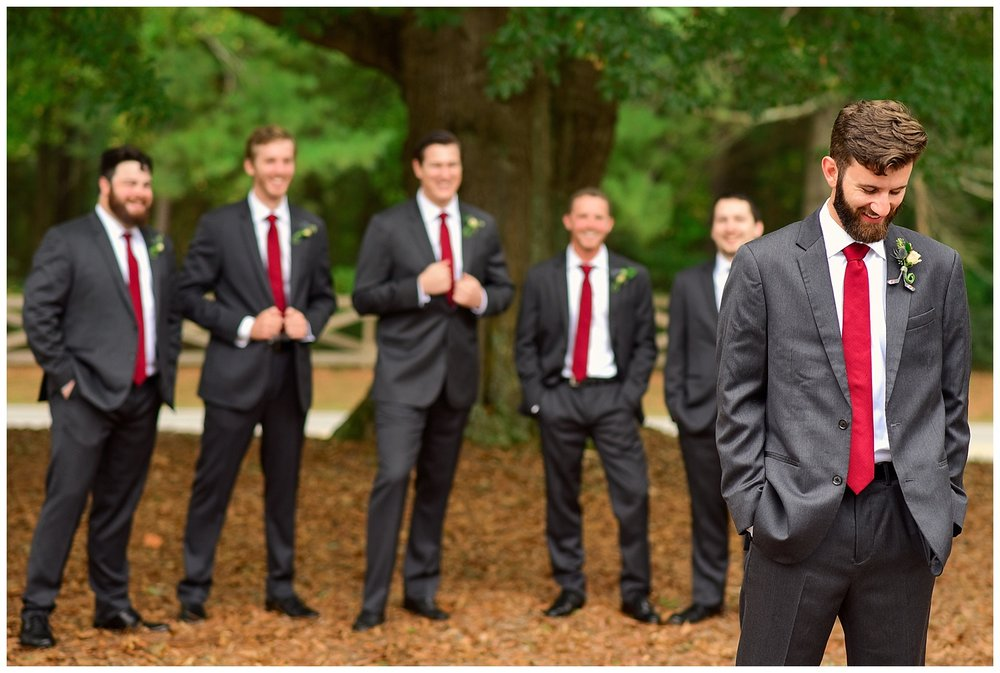 Oaks of Salem Wedding groomsmen