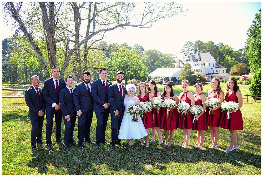Oaks of Salem Wedding party